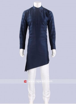 Layered Cotton Silk Pathani Set