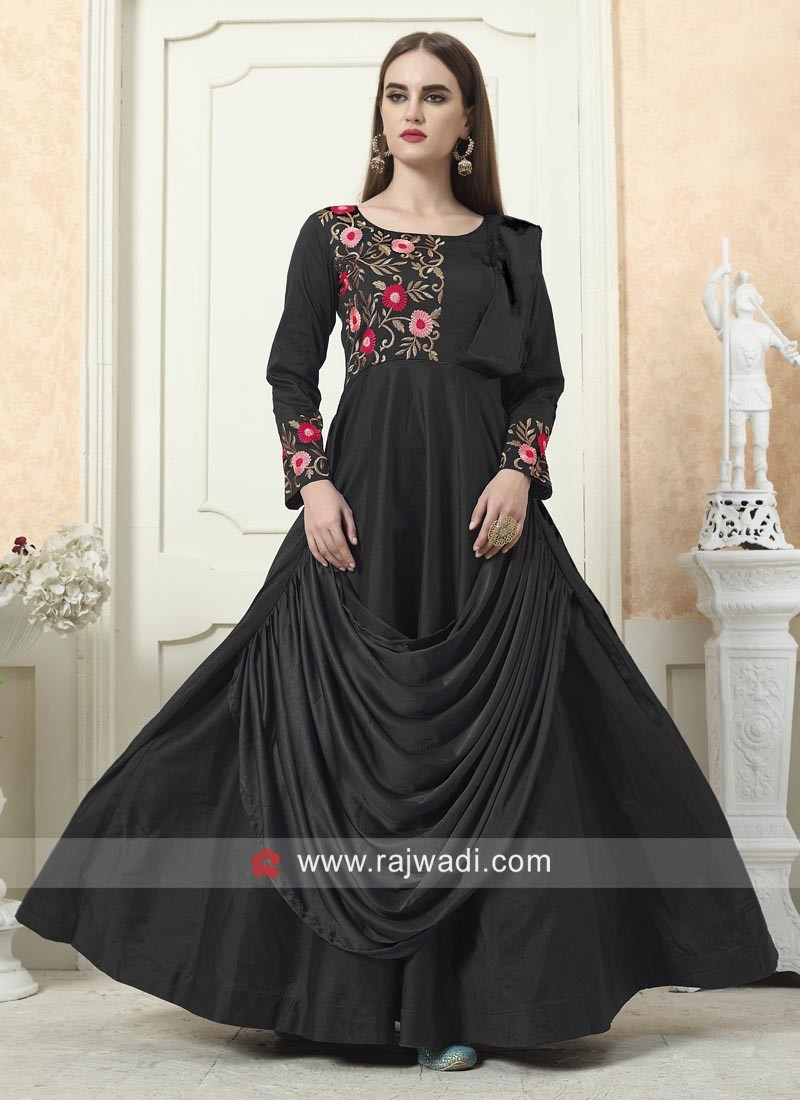 Layered Eid Gown in Black