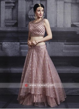Layered Embroidered Choli Suit