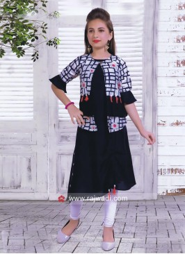 Layered Koti Style Kurta Set for Kids