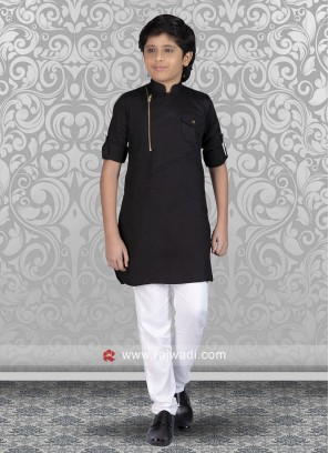 Stylish Black Color Kurta Set
