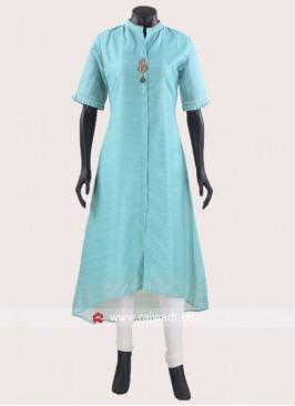 Layered Kurti in Sea Green