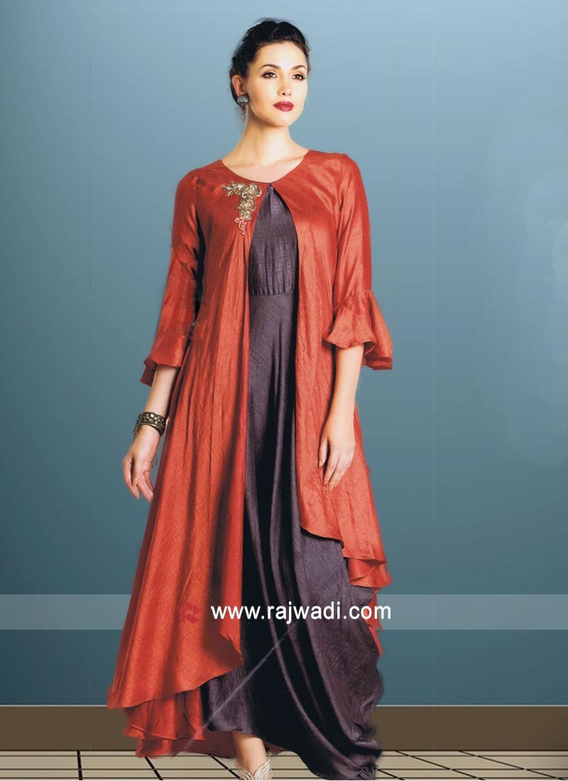 Layered Kurti in Silk