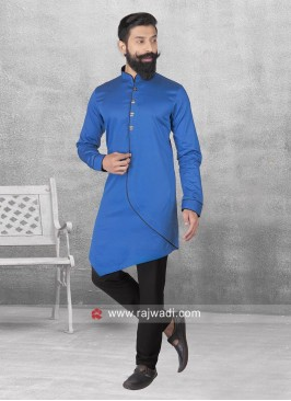 Layered Pathani In Blue