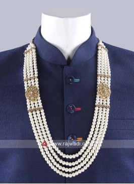 Layered Pearl Mala for Groom