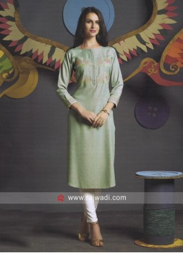 Layered Shaded Kurti with Buttons