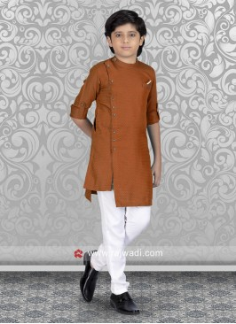 Stylish Rust Kurta Set
