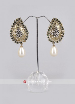 Leaf Shape Drop Earrings