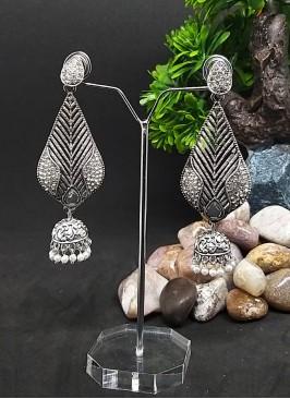 Leaf Shaped Jhumki Earrings