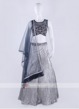 Leather and net Lehenga Choli