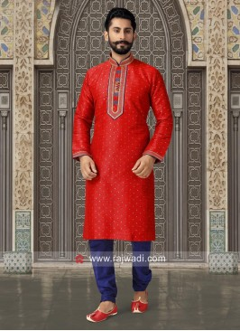 Legendary Dark Red Kurta Payjama