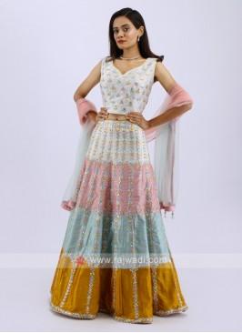 Lehenga Choli In Multi Color