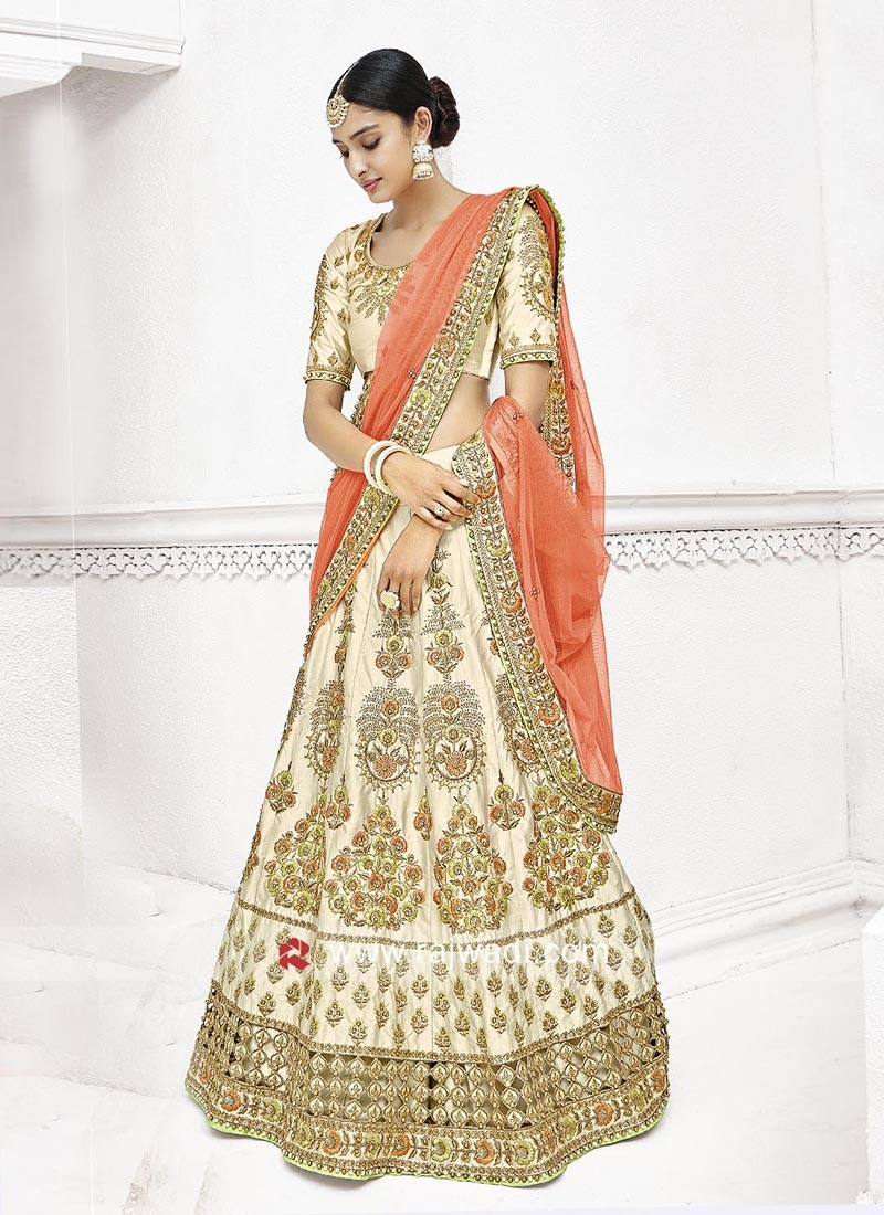 Lehenga Saree with Embroidery Work