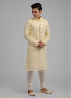 Lemon Yellow Nehru Jacket Suit