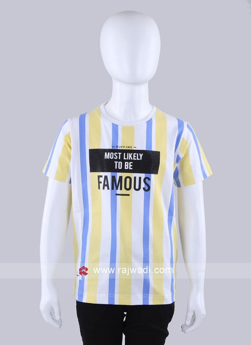 Lemon Yellow Striped T-Shirt