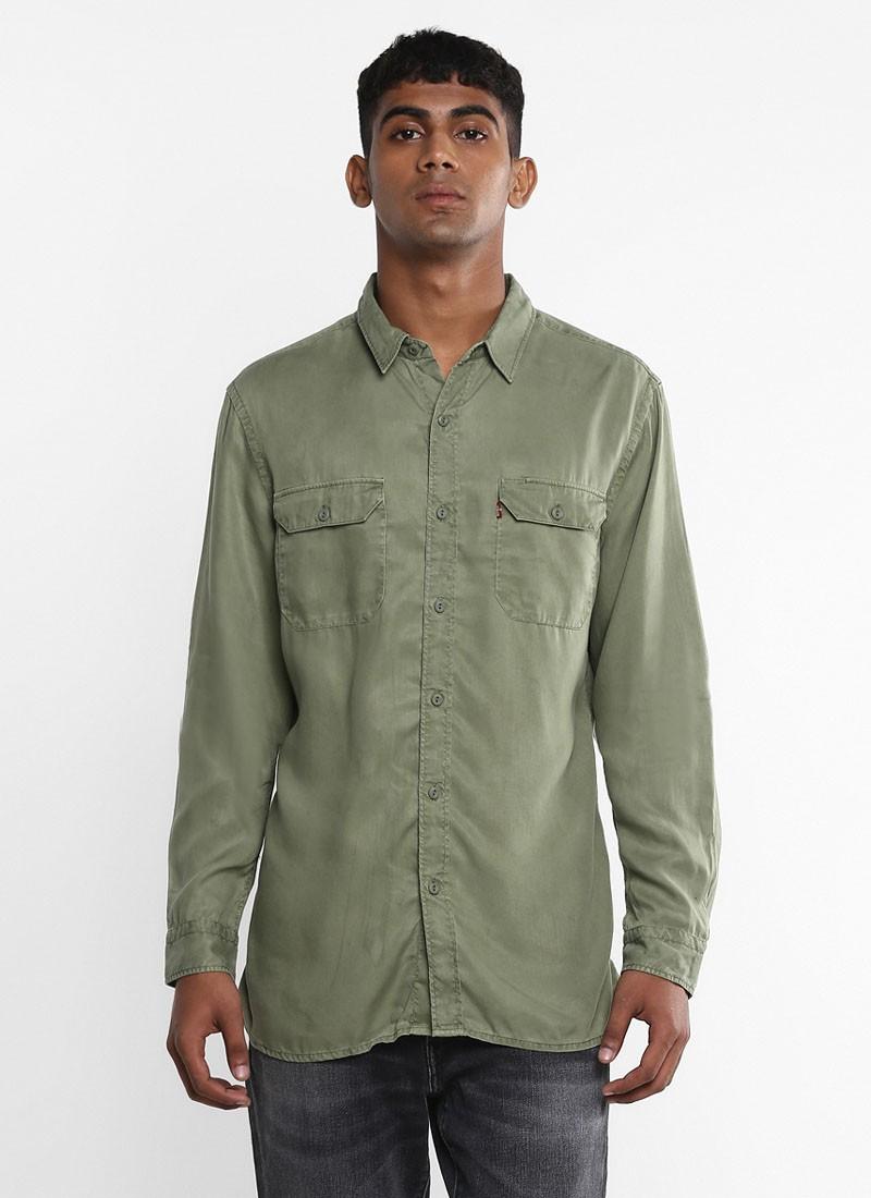 Levi's Two Pocket Olive Green Shirt
