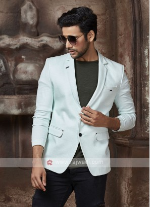 light aqua color blazer