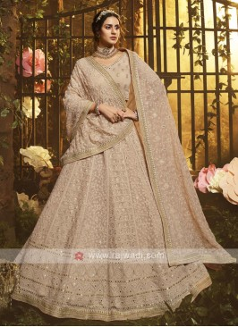 Light Brown Georgette Lehenga Choli