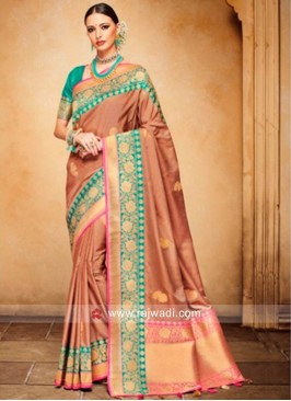 Light Brown Weaved Saree