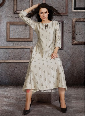 Light Cream Color Kurti