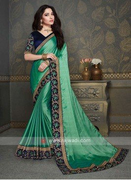 Light Green Color Chiffon Silk Saree