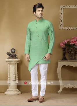 Light Green Color Kurta Set