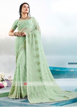 Amazing Lucknowi Work Saree