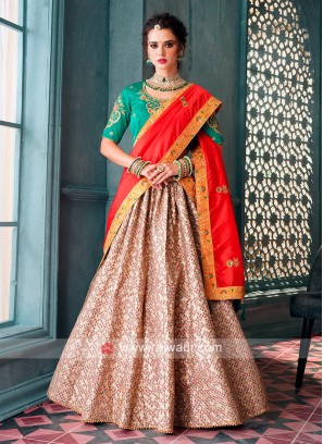 Light Green & Cream Lehenga Choli
