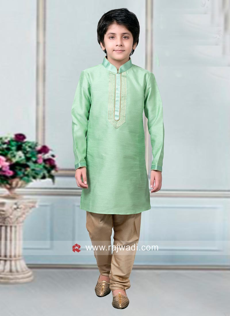 Light Green kids Kurta Pajama