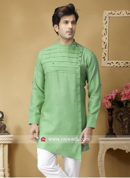 Light Green Linen kurta