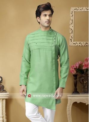Light Green Linen kurta