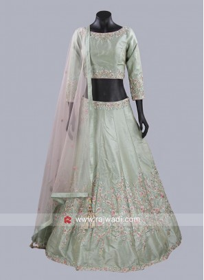 Light Green Readymade Choli Suit