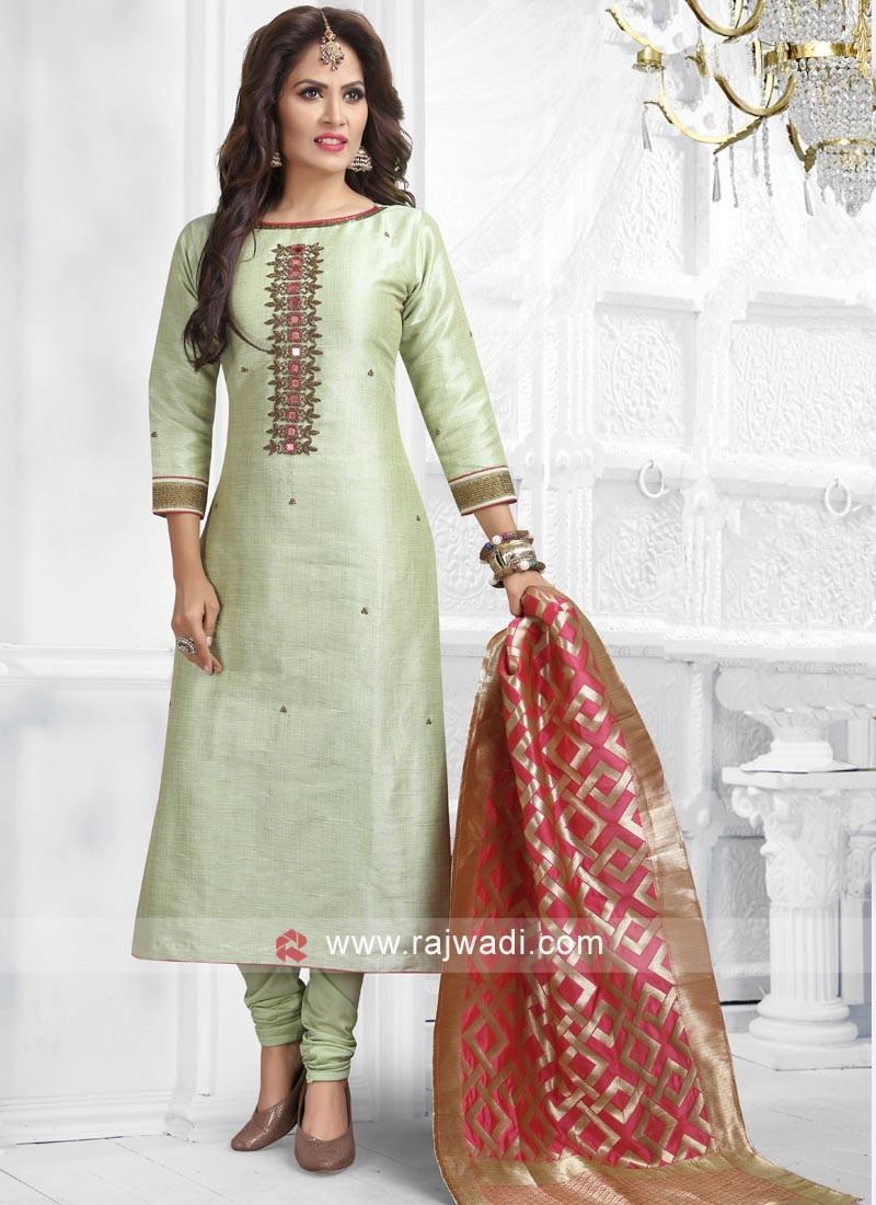 Light Green Readymade Salwar Suit