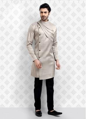 Light grey Color Kurta Pajama