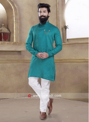 Peacock Blue Pathani Suit