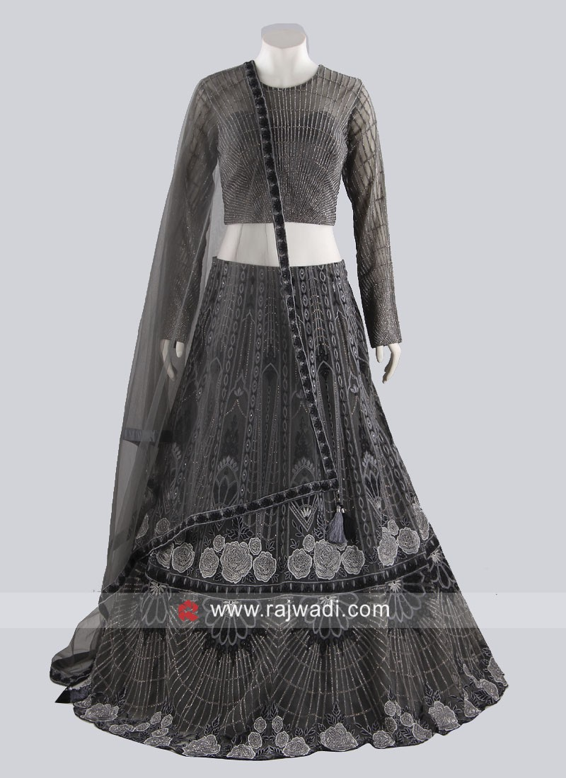 Light Grey Wedding Lehenga Choli