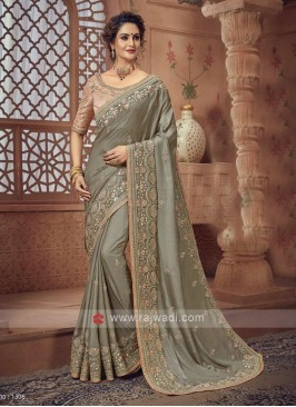 Light Olive Saree For Wedding