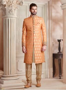Light Orange Color Indo Western