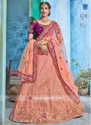 Light Orange Heavy Lehenga