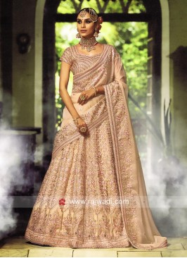 Light Orange Wedding Lehenga Set