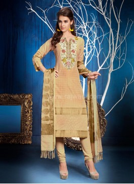 Light Peach Churidar Suit
