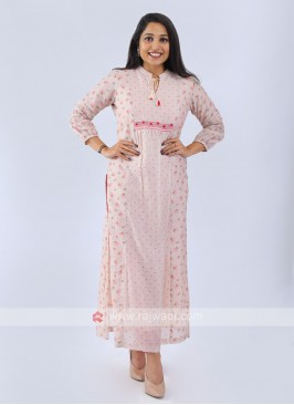 Light Peach Color Kurti