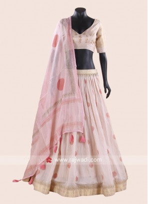Light Peach Choli Suit