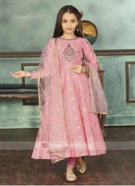 Light Pink Color Anarkali Suit