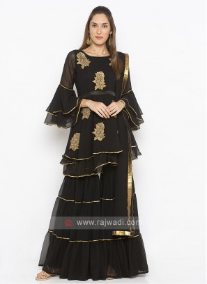Black color garara suit