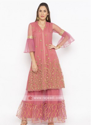 Light pink color garara suit
