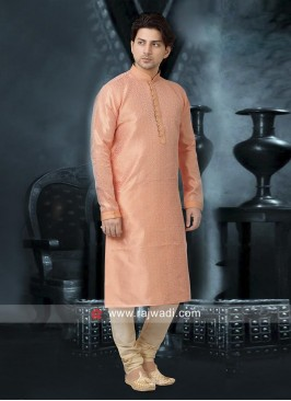 Impressive Peach Color Kurta Set