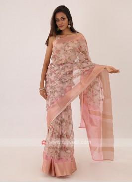 Light Pink Designer Saree