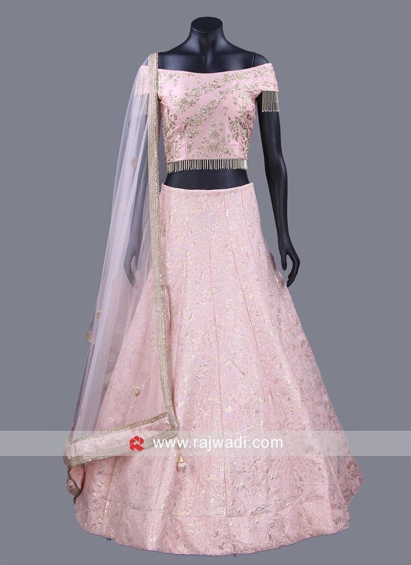 Light Pink Embellished Choli Set