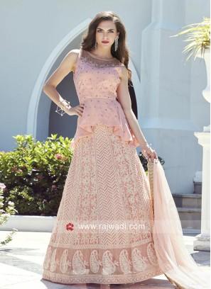 Light Pink Embroidered Lehenga Choli